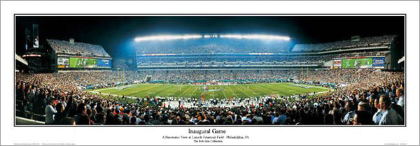 Philadelphia Eagles Lincoln Financial Field Inaugural Game (2003) Panoramic Poster Print - E.I.