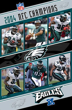 Philadelphia Eagles 2004 NFC Champions 6-Player Action Poster - Costacos Sports