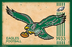 Philadelphia Eagles NFL Heritage Series Official Retro Logo Poster - Costacos Sports