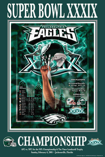 "Philadelphia Eagles ""Super Season 2004"" (Super Bowl XXXIX) Poster - Action Images"