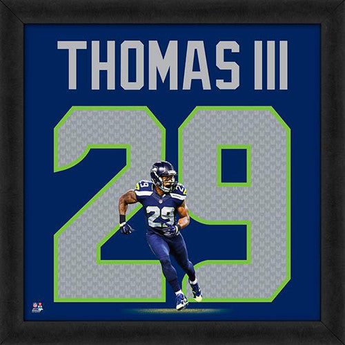 "Earl Thomas ""Number 29"" Seattle Seahawks FRAMED 20x20 UNIFRAME PRINT - Photofile"