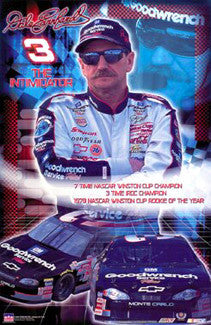 "Dale Earnhardt ""The Legend"" Classic NASCAR Commemorative Poster - Starline 2002"
