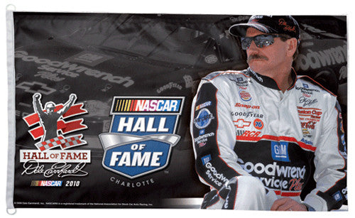 Dale Earnhardt NASCAR HALL OF FAME Huge 3' x 5' Banner Flag - Wincraft 2010