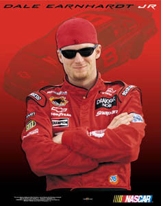 "Dale Earnhardt Jr. ""Born to Drive"" NASCAR Racing Poster - Time Factory 2003"