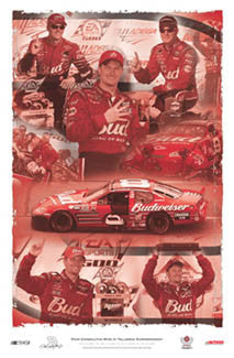"Dale Earnhardt Jr ""Talladega Four"" NASCAR Victories Commemorative Poster - Action 2003"