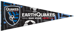 "San Jose Earthquakes ""1974"" MLS Soccer Premium Felt Collector's Pennant - Wincraft"