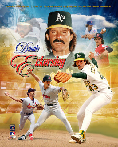 Dennis Eckersley Hall of Fame Commemorative Premium Poster Print - Photofile