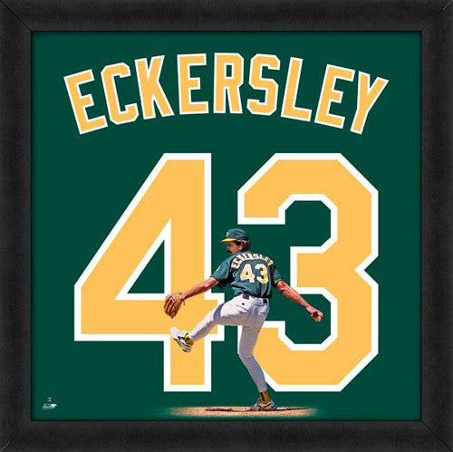"Dennis Eckersley ""Number 43"" Oakland A's MLB FRAMED 20x20 UNIFRAME PRINT - Photofile"