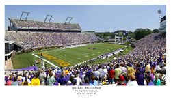 "East Carolina Pirates ""Set Sail With Skip"" (2005) Dowdy-Ficklen Stadium Panoramic Poster - SG"