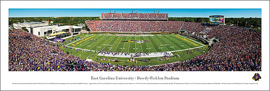 East Carolina Pirates Football Dowdy-Ficklen Stadium Gameday Panoramic Poster - Blakeway