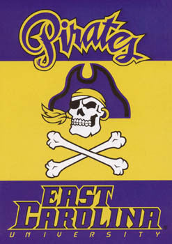 East Carolina University Pirates Premium NCAA Team Banner - BSI Products