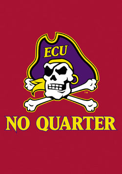 "East Carolina Pirates ""No Quarter"" Premium 28x40 Banner Flag - BSI Products"