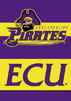 "East Carolina Pirates ""ECU"" Premium 28x40 Banner - BSI Products"