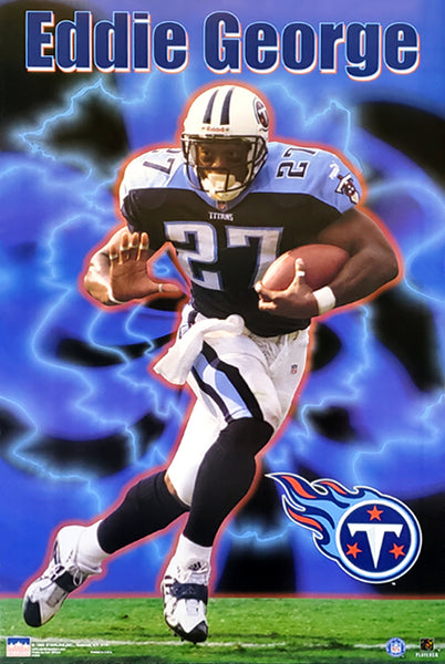 "Eddie George ""Action"" Tennessee Titans NFL Superstar Poster - Starline 1999"