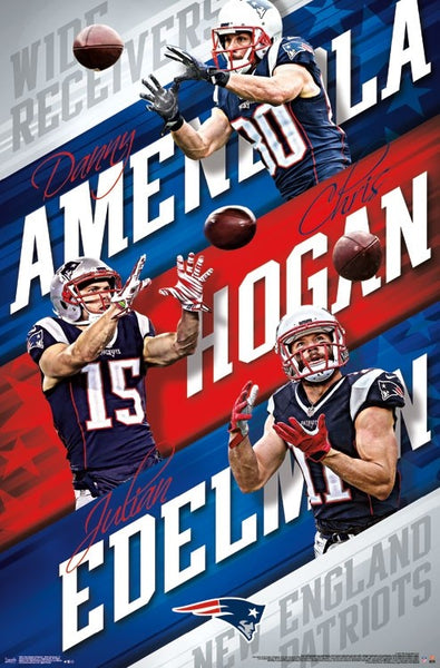 "New England Patriots ""Receiver Trio"" (Edelman, Amendola, Hogan) Poster - Trends International"