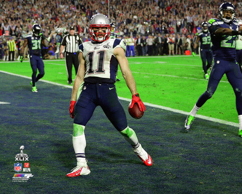 "Julian Edelman ""Touchdown"" Super Bowl XLIX Patriots Premium Poster - Photofile 16x20"