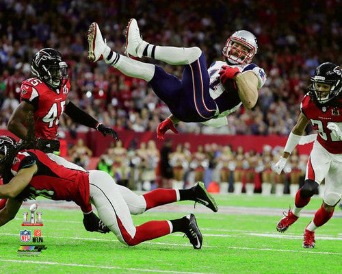 "Julian Edelman ""Airborn"" Super Bowl LI (2017) Patriots Premium Poster - Photofile 16x20"