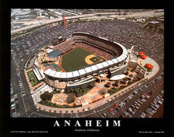 "Los Angeles Angels Stadium ""From Above"" Premium Poster Print - Aerial Views Inc."