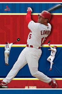 "Jim Edmonds ""Over the Wall"" St. Louis Cardinals Poster - Costacos 2004"