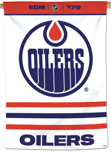 Edmonton Oilers Official NHL Hockey Team Premium 28x40 Wall Banner - Wincraft Inc.