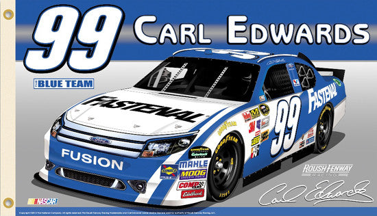 "Carl Edwards ""Blue Team 99"" 3'x5' Flag (2012) - BSI Inc."