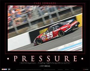"Carl Edwards ""Pressure"" NASCAR Racing Poster - Time Factory 2006"