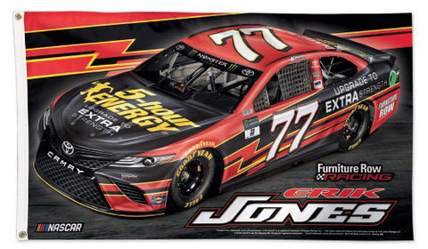 Erik Jones NASCAR 5-Hour Energy #77 Official HUGE 3'x5' Deluxe-Edition FLAG - Wincraft 2017