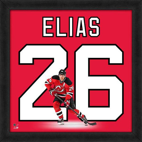 "Patrick Elias ""Number 26"" New Jersey Devils NHL FRAMED 20x20 UNIFRAME PRINT - Photofile"
