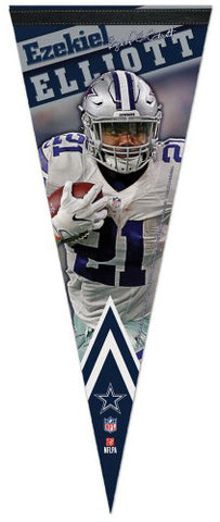 "Ezekiel Elliott ""Signature Series"" Dallas Cowboys Premium Felt Collector's PENNANT - Wincraft 2016"