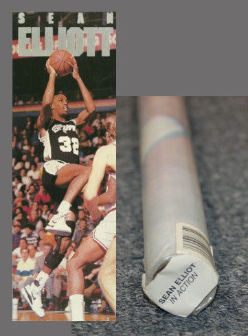 "Sean Elliott ""Big-Time"" HUGE Door-Sized Poster - Costacos 1990"