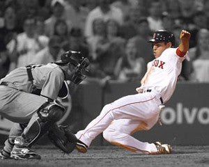 "Jacoby Ellsbury ""Sliding Home"" (2009) - Photofile 16x20"