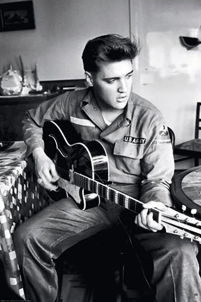 "Elvis Presley ""U.S. Army Crooner"" (c.1957) Classic Rock and Roll Music Poster - Reinders Posters"