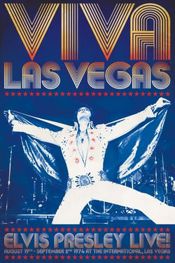"Elvis Presley ""Viva Las Vegas"" 1974 Classic Rock and Roll Music Poster - Pyramid America"