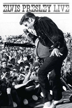 Elvis Presley Live! (c.1956) Rock and Roll Music Classic Poster - Aquarius Images Inc.