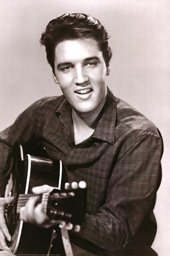 "Elvis Presley ""Love Me Tender"" Classic Profile Poster (1956) Rock and Roll Music Poster"