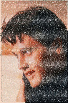 "Elvis Presley ""Written Images"" Song Listing Portrait Poster"