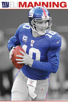 "Eli Manning ""Superstar"" New York Giants NFL Football Poster - Costacos Sports"