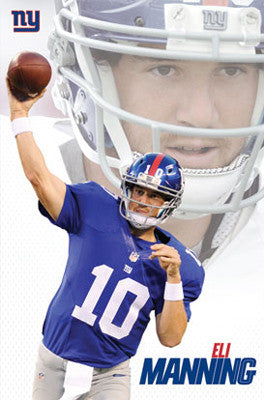 "Eli Manning ""Leader"" New York Giants Quarterback  NFL Action Poster - Trends International"