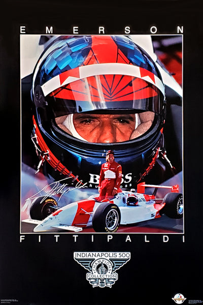 Emerson Fittipaldi Indy 500 Champion Series Racing Superstar Poster - Costacos Brothers 1994