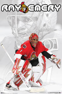 "Ray Emery ""Intensity"" Ottawa Senators NHL Goalie Poster - Costacos 2007"