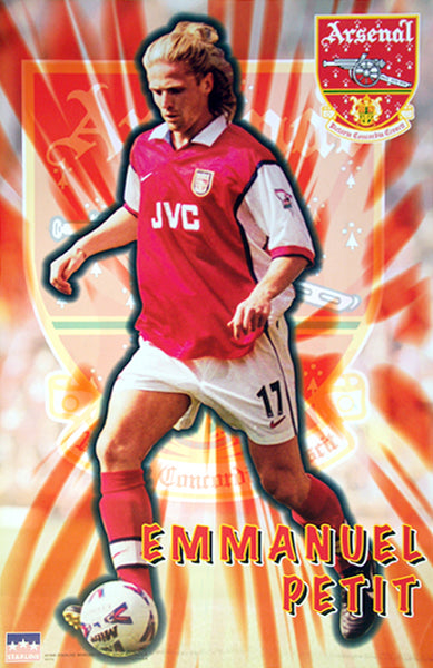 "Emmanuel Petit ""Shine"" Arsenal FC Poster - Starline Inc. 1998"