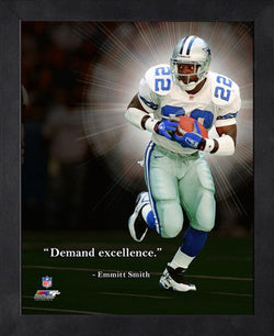 "Emmitt Smith ""Demand Excellence"" Dallas Cowboys FRAMED 16x20 PRO QUOTES PRINT - Photofile"