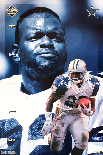 "Emmitt Smith ""Power"" Dallas Cowboys NFL Football Vintage Original Action Poster - Costacos Brothers 1995"