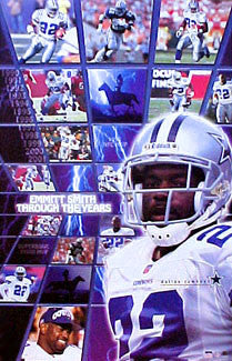 "Emmitt Smith ""Through the Years"" Dallas Cowboys Poster - Starline 2001"