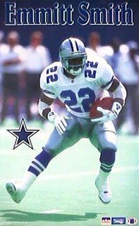 "Emmitt Smith ""Prime"" Dallas Cowboys Poster - Starline 1993"