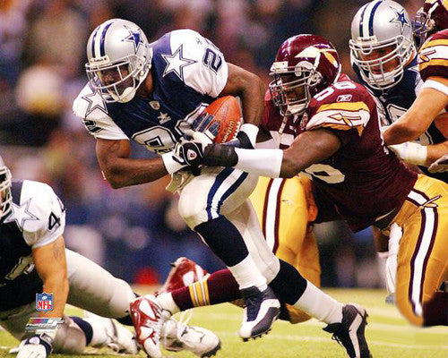 "Emmitt Smith ""Throwback"" Dallas Cowboys vs. Redskins Premium Poster Print - Photofile Inc."