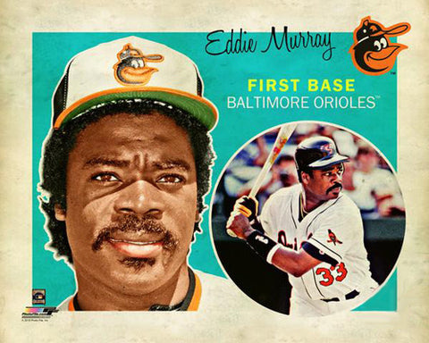 "Eddie Murray ""Retro SuperCard"" Baltimore Orioles Premium Poster Print - Photofile 16x20"