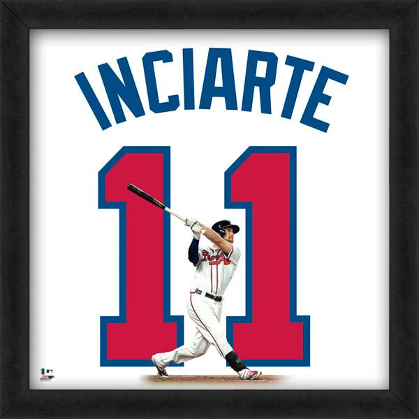 "Ender Inciarte ""Number 11"" Atlanta Braves MLB FRAMED 20x20 UNIFRAME PRINT - Photofile"