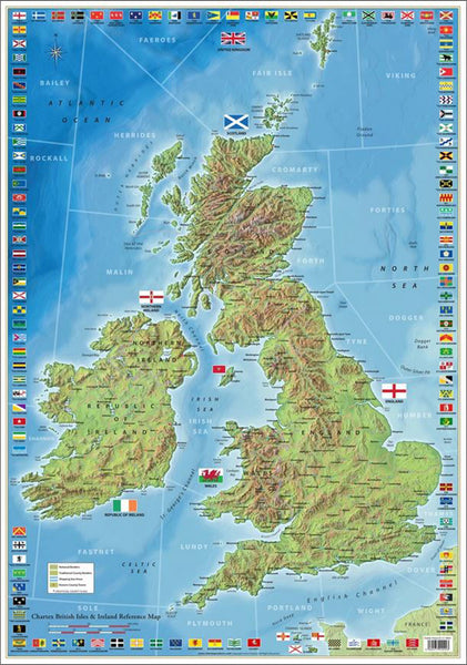The Ultimate British Isles and Ireland Wall Map Poster w/120 County Flags - Chartex Inc. (UK)