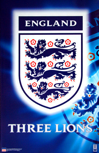 Team England Football Three Lions Crest Poster - Starline Inc.